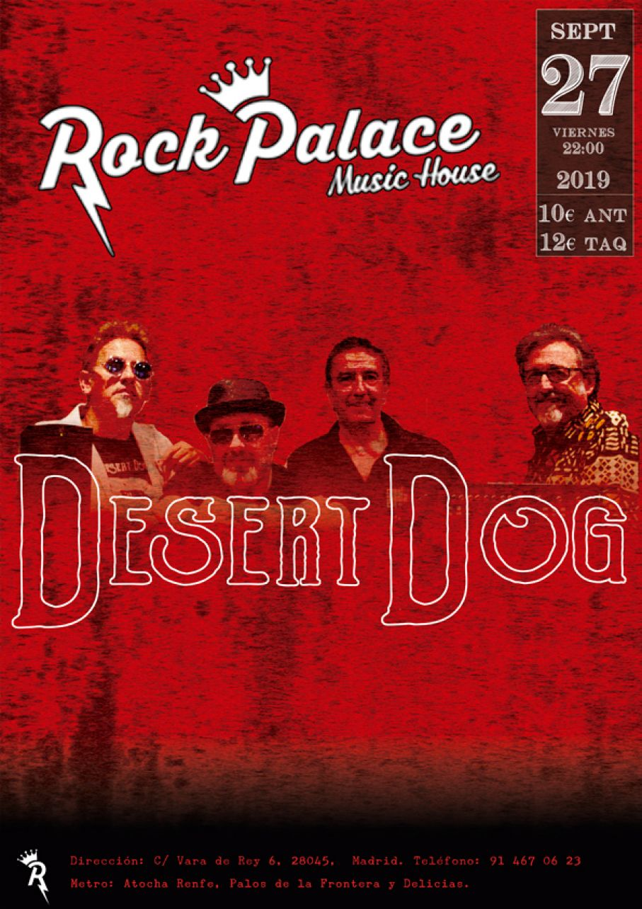 Concierto sala Rock Palace (27SEP2019)