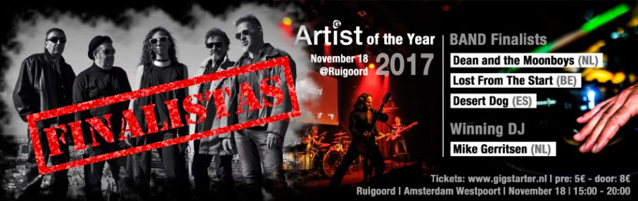 Finalistas Gigstarter Artist of the Year 2017